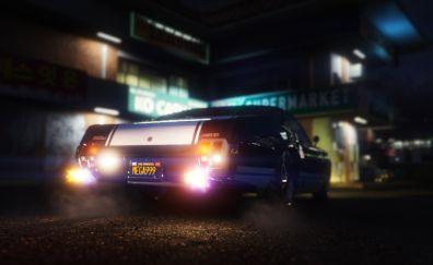 Grand Theft Auto V, car, video game, night