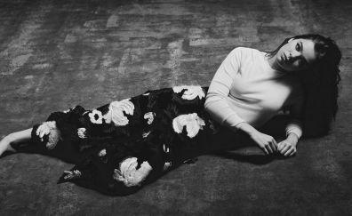 Hailee steinfeld, actress, monochrome