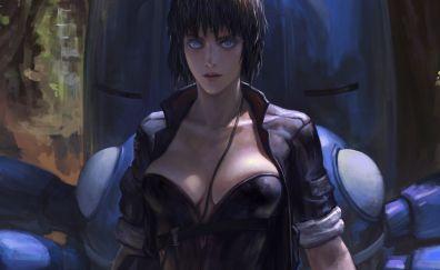 Motoko Kusanagi, Ghost in the Shell, anime, art