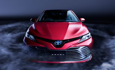 Toyota Camry, red car, front view, 2018, 4k