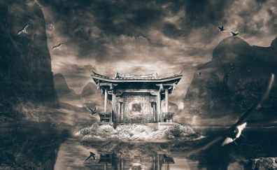 Temple, art