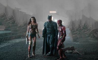 Justice league, 2017 movie, wonder woman, batman, flash, 5k
