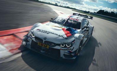 BMW M4 DTM, motorsport, sports car, motion blur