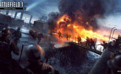Battlefield 1: Turning Tides DLC, video game, 4k
