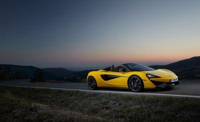Yellow sports car, Mclaren 570s, 4k