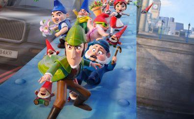 Sherlock gnomes, 2018, animation movie, 4k