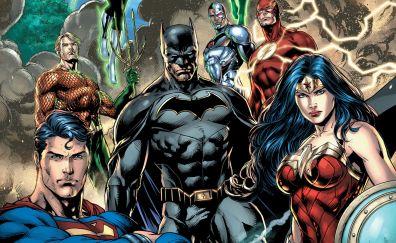 Justice league, dc comics, all heroes