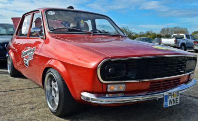 Dacia 1300, classic car, red, front