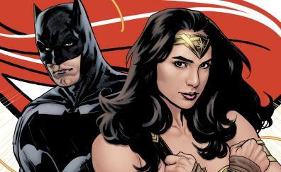 Batman, wonder woman, justice league, fan art