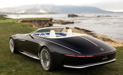 Vision Mercedes-Maybach 6 Cabriolet, 2017, luxury car, rear view