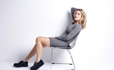 Ellie Goulding, English singer, celebrity, sitting