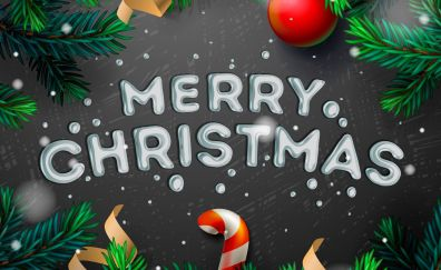 Merry christmas, holiday, typography, 2017