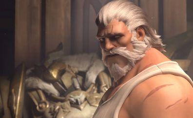 Reinhardt, overwatch, old man, online game