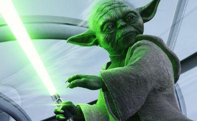 Yoda, star warsL battlefront 2, video game, 5k