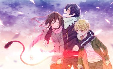 Fun, anime, friends, anime boy, anime girl, Noragami