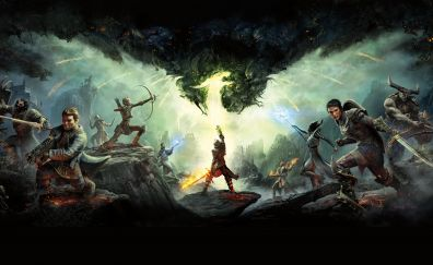 Dragon Age: Inquisition, video game, warriors, 5k