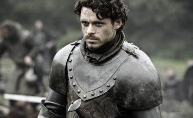 Richard Madden, Robb Stark, actor, game of thrones, 4k