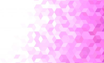 Pink gradient, cubes, abstract