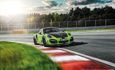 Porsche 911 Turbo, on road, sports car