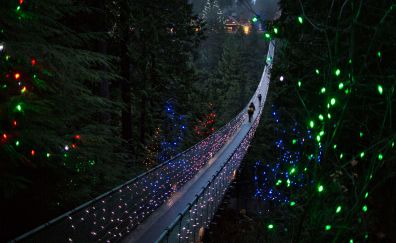 Decorations, bridge, christmas, 2017