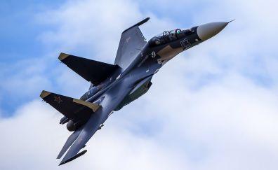 Military, airplane, Sukhoi Su-30