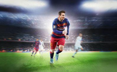 Lionel messi, fifa 16, ea sports, footballer, sports, 8k