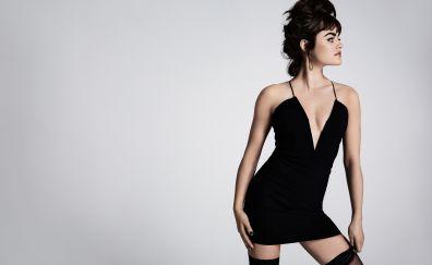 Lucy hale, yahoo style, black cloths, 2017