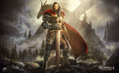 Stormfall: Age of War, knight, dragon, mobile game