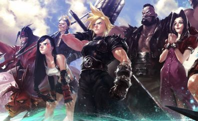 Final Fantasy VII, video game, warriors