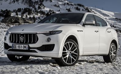 White maserati levante, luxury car