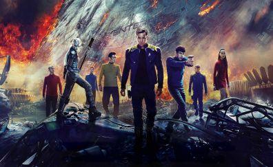 Star Trek Beyond, 2016 movie, 4k, cast