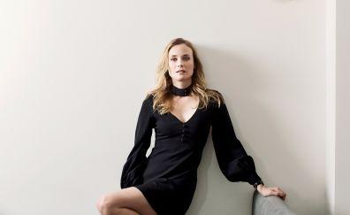 Celebrity, black dress, Diane Kruger