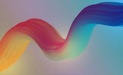 Colorful curves, abstract, 4k