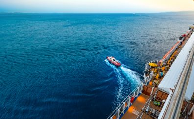 Cruise ship, ocean, sea, boat