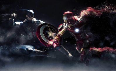 Captain america vs iron man civil war