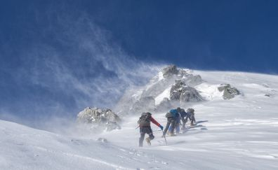 Mountaineering, Landscape, snow mountains, winter