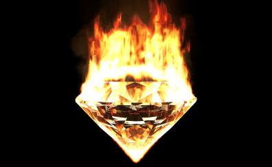 Diamond on fire