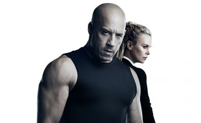 Vin Diesel, Charlize Theron, actors, The Fate of the Furious movie