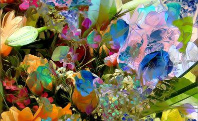Flowers painting, artwork