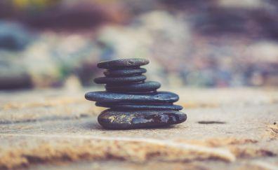 Balance of rocks, stone tower