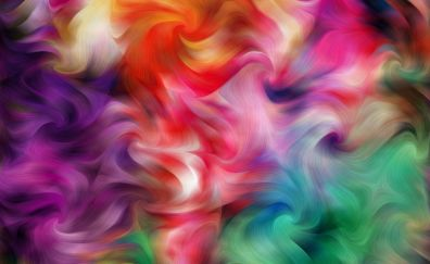 Abstract, colorful, swirl