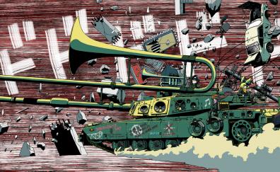 Musical tank artwork