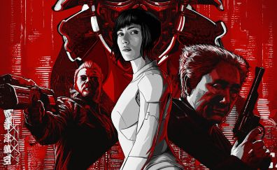Ghost in the shell movie, art, 5k