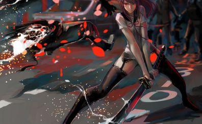 Anime girl glitch artwork