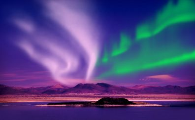 Amazing The northern lights of Alaska