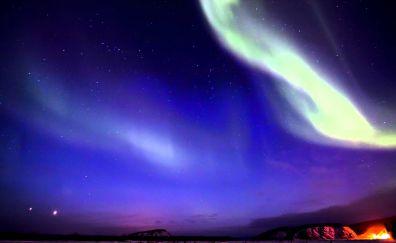 Night of the northern lights of Alaska