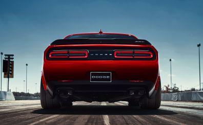 Dodge Challenger SRT demon, car rear view