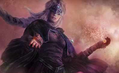 Dark souls III video game, girl warrior, 2016 game