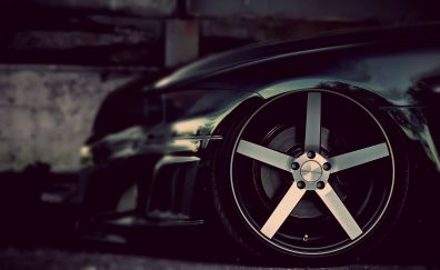 BMW M3 black car's wheel