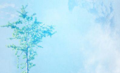 Scrapbooking, paper art, tree